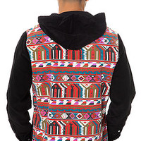 The Adhan L/S Poncho in Red
