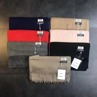 acne studios tassels solid color scarf
