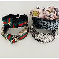 Designer Inspired Headbands with Knotted Fabric