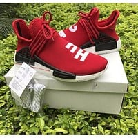Pharrell Williams x Adidas PW HU Human Race NMD Hu Red Boost Sport Running Shoes Classic Casual Shoes Sneakers