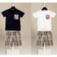 2T-6T Kids Sets Boy Short-sleeved Baby CLOTHES Girls