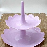 Two-Tier Display Stand/Tower - LILAC PURPLE