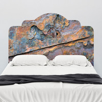 Paul Moore's Close-up Rust Adhesive Headboard wall decal