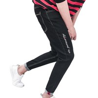 new skinny Men's jeans slim Letter straight Stretch Ripped Design Nine jogger pants casual Ankle Zipper man Jeans famous brand