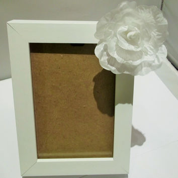 White Rose Photo Frame, House-warming, Gift Idea, Rose Gifts