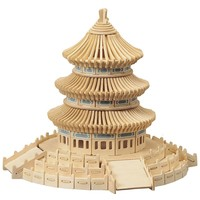Temple of Heaven 301-pc. 3D Wooden Puzzle by Puzzled (Natural)