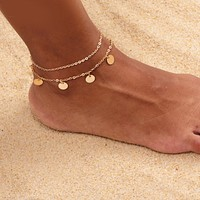 Layered Confetti Anklet