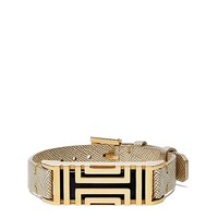 Tory Burch Tory Burch For Fitbit Metallic Leather Bracelet