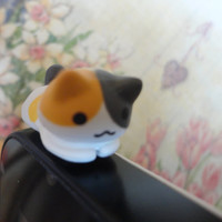 Cute Cat laying Dust Plug - IPhone & earphone dust plug - Cellphone Accessories