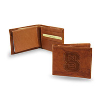 North Carolina State Wolfpack NCAA Embossed Leather Billfold