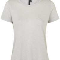 Neat Cashmere Blend Tee by Boutique - Grey
