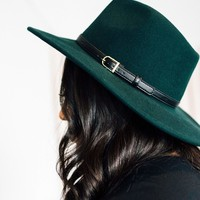 Lenora Felt Hat: Hunter Green