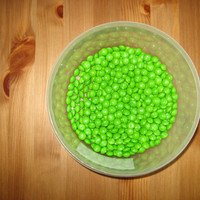 One pound green (green apple) Skittles
