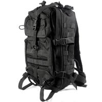 MGS Savage Large Heavy Duty Rucksack Large Heavy Duty Tactical MOLLE Backpack - Black Backpack