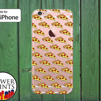 Pepperoni Pizza Pattern Cheese Food Pattern Funny Clear Rubber Phone Case for iPhone 5/5s and 5c and iPhone 6 and 6 Plus + and iPhone 6s