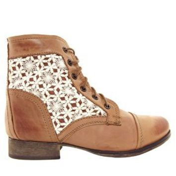 Steve Madden Thundr-C Crochet Lace Up Ankle Boots at asos.com