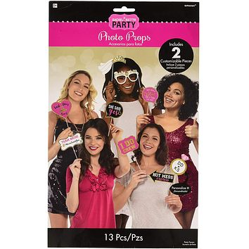 Bachelorette Party Photo Booth Props 13ct
