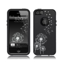 iPhone 5 / 5S Case [Black] Dandelion Birds [Dual Layer] UnnitoTM *1 Year Warranty* Case Protective [Custom] Commuter Protection Cover iPhone 5S