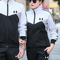 Under Armou new men and women installed Korean version of loose casual sports suit