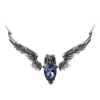 Alchemy Gothic Stryx Owl Pendant Necklace