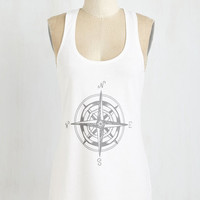 Nautical Mid-length Sleeveless Explore Your Options Top