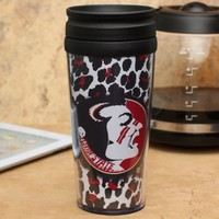 Florida State Seminoles (FSU) 16oz. Cheetah Acrylic Tumbler with Lid