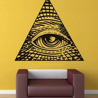 The Luminati Eye of Providence Wall Decal. #5260