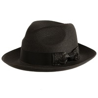 Luxe Center Dent Straw Fedora by Bruno Capelo