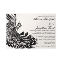Vintage Fancy in Black Personalized Announcement from Zazzle.com