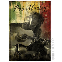 Bob Marley - Guitar Sitting Poster on Sale for $6.99 at HippieShop.com