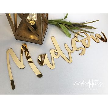 """18"""" Small Personalized Name Sign, Acrylic"""