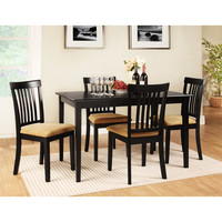 Walmart: Lexington 5-Piece Dining Table Set with Mission-Back Chairs, Black