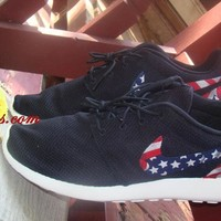 Black Nike Roshe Runs Patriot