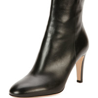 Gianvito Rossi Vitello Leather 85mm Ankle Boot, Black