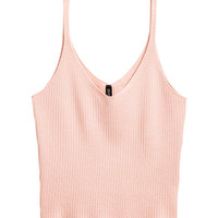 Rib-knit Tank Top - from H&M