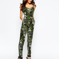 New Look Palm Printed Jumpsuit