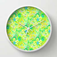 Sunny Summer Batik  Wall Clock by RokinRonda