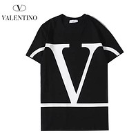 Valentino New fashion letter print couple long sleeve top shirt Black