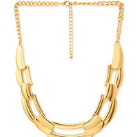 FOREVER 21 Chain-Link Bib Necklace