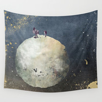 Two astronauts Wall Tapestry by Jbjart | Society6