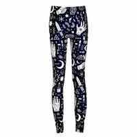 PEAPON New Arrival 3628 Sexy Girl Women SpellBound witchcraft ouija Crafty 3D Prints Elastic Fitness Polyester Walking Leggings Pants