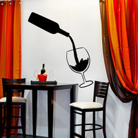 Vinyl Wall Decal Sticker Wine Pour #OS_MB1114