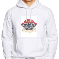 Cute Turquoise Pug Animal Illstration dcbed8a0-8163-4a89-a8fe-616425b0261c For Man Hoodie and Woman Hoodie S / M / L / XL / 2XL *01*