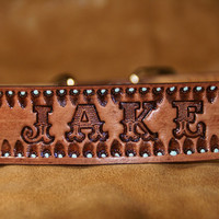 "1.5"" Wide Tough Ass Western Dog Collar Hand Crafted in Arizona"