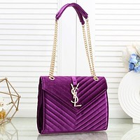 Fashion Velvet Shoulder Bag Crossbody Satchel