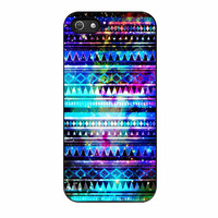 Aztec In Galaxy Nebula Space Tribal Blue iPhone 5s Case