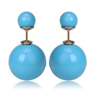Gum Tee Mise en Style Tribal Earrings - Pastel Blue