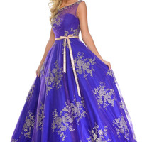 Precious Formals P70195 Lace Ball Gown Prom Dress
