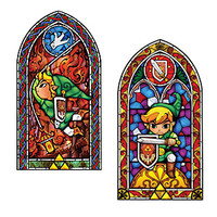 Legend of Zelda Stained Glass Wall Decal