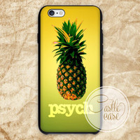 psych pineapple iPhone 4/4S, 5/5S, 5C Series, Samsung Galaxy S3, Samsung Galaxy S4, Samsung Galaxy S5 - Hard Plastic, Rubber Case